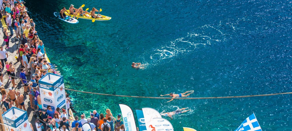 Open Water Swimming at Santorini Experience_by Elias Lefas